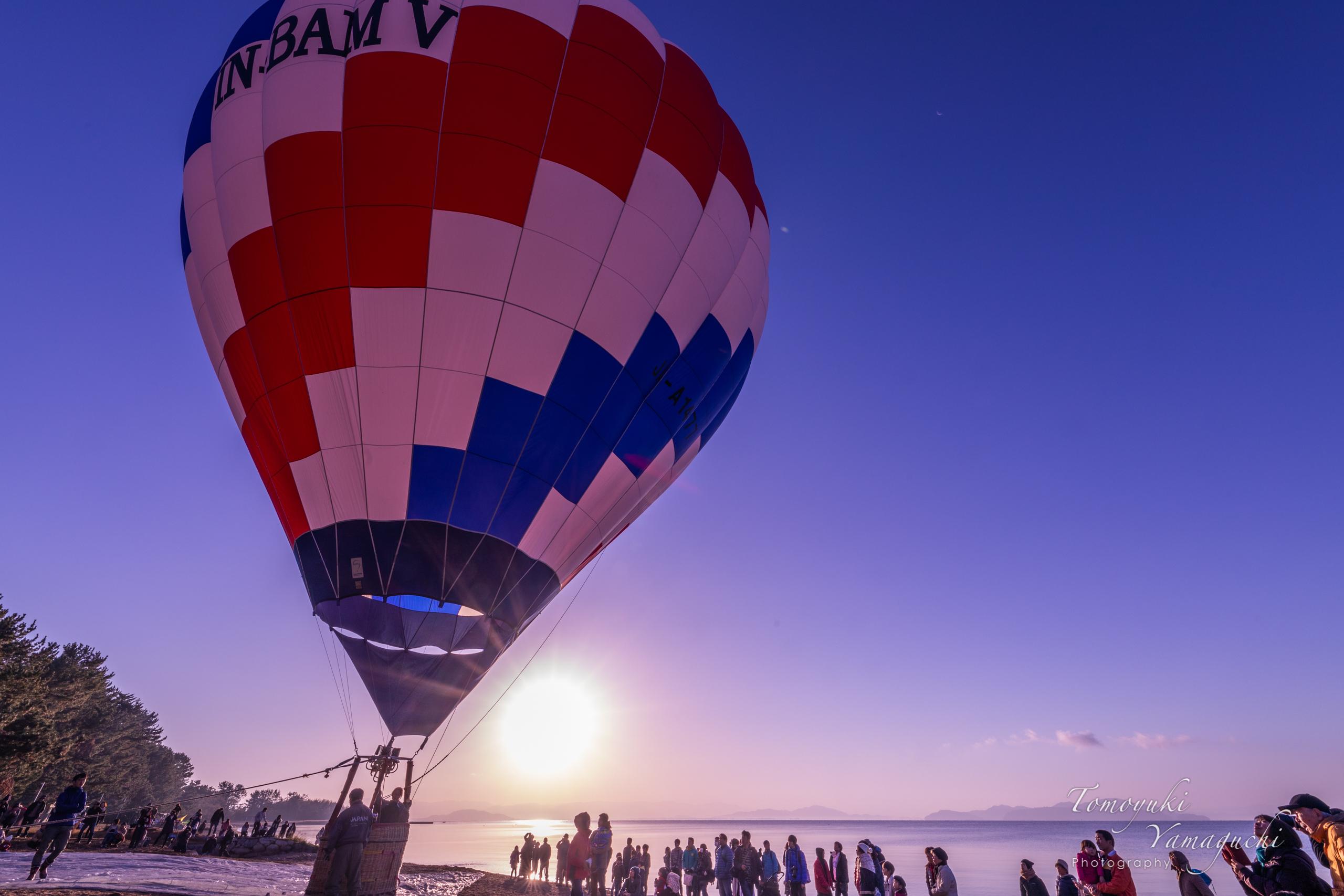 第42回熱気球琵琶湖横断2018の観戦