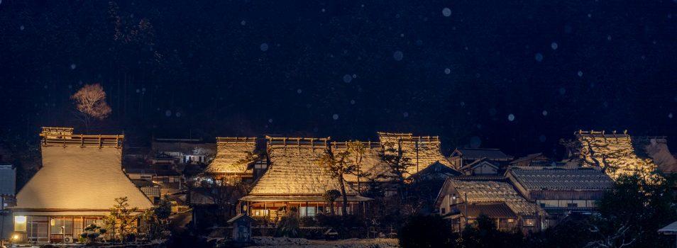 懐かしさを感じる『美山かやぶきの里』の雪景色